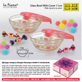 Glass Bowl With Cover 11cm 48 biji hanya RM184.80